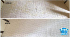 Baby cot steam cleaning mattress stains