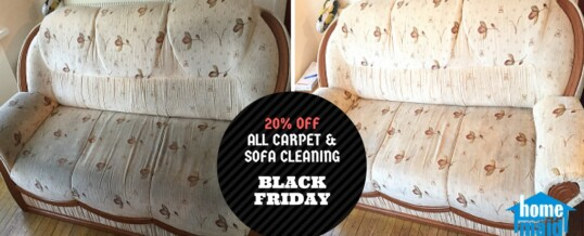 Black Friday Deal – 20% off on all carpet cleaning and sofa cleaning orders till end of November