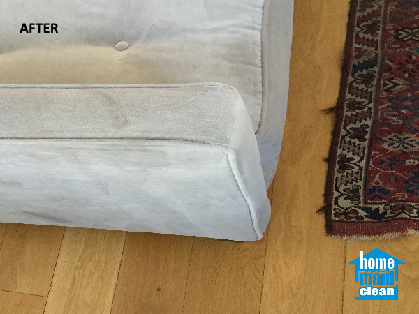 cleaning stained sofa