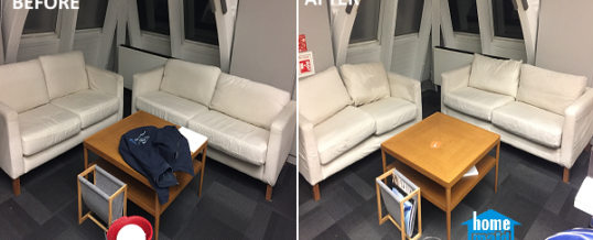 Reception sofa cleaning in Blackfriars, London EC4