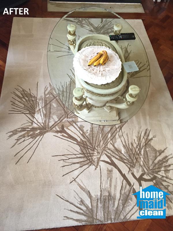 beige rug steam cleaning