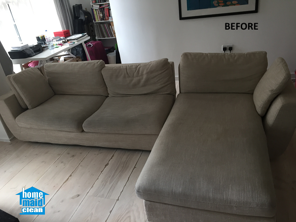 beige sofa cleaning