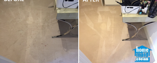 Makeup stains removal from a bedroom carpet in Dollar Bay, London E14